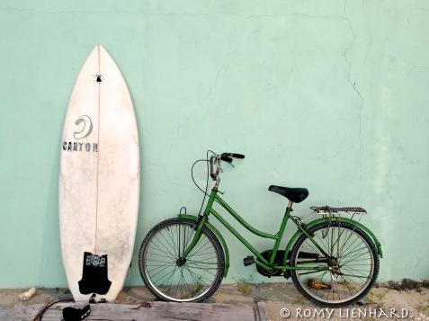 Surfboard Bike Beach