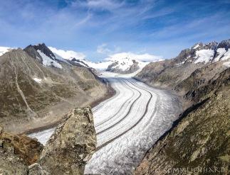 Aletschgletscher zentral